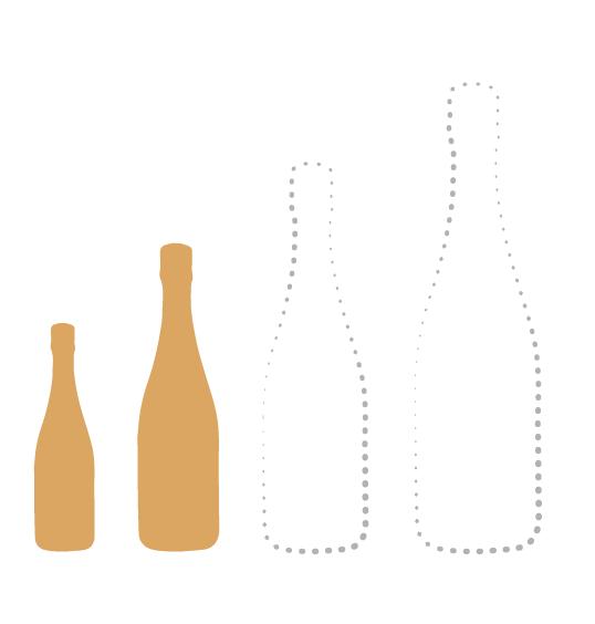 Demie-bouteille et Bouteille